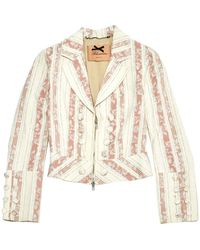 Blumarine Pink Cotton Jacket