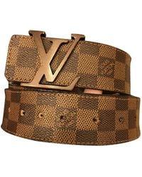 Louis Vuitton Cintura in tela marrone