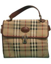 Burberry Camel Leather Handbag - Natural