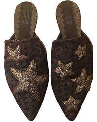 Sanayi 313 Cloth Mules - Metallic