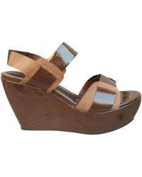 Marni - Brown Patent Leather - Lyst