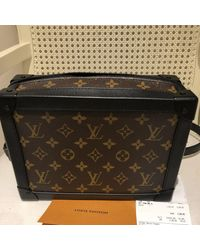 Louis Vuitton Bolsos en lona marrón Soft trunk mini