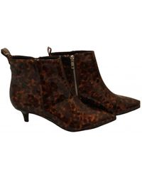 Monki Ankle Boots - Brown