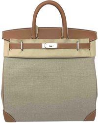 Hermès Haut À Courroies Leather Travel Bag - Metallic