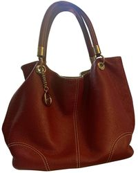 Lancel French Flair Leather Handbag - Red
