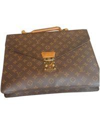 Louis Vuitton Kourad Leinen Business tasche - Mehrfarbig