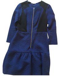 Sandro Midi kleid - Blau