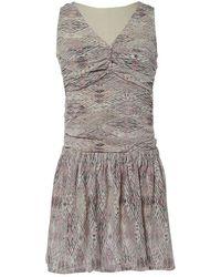 IRO - Pink Silk Dress - Lyst