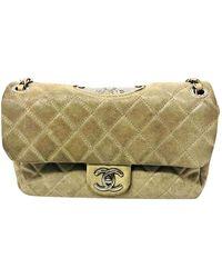 Chanel Timeless/Classique Handtaschen - Natur