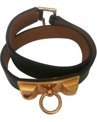 Hermès - Pre-owned Kelly Double Tour Leather Bracelet - Lyst