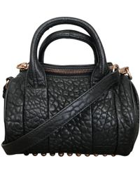 Alexander Wang - Rockie Black Leather Handbag - Lyst