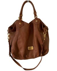 Marc By Marc Jacobs Classic Q Leather Handbag - Brown