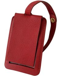 Hermès - Pre-owned Red Leather Purse - Lyst