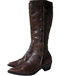 Barbara Bui Brown Leather Boots