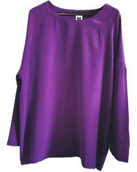 M Missoni Silk Tunic - Purple