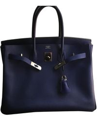 Hermès Birkin 35 Leder Handtaschen - Blau