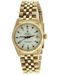 Rolex Datejust 31mm Gelbgold Uhren - Mettallic