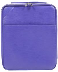 Louis Vuitton - Pre-owned Pegase Purple Leather Travel Bags - Lyst