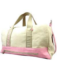 Chanel - Beige Cloth Travel Bag - Lyst