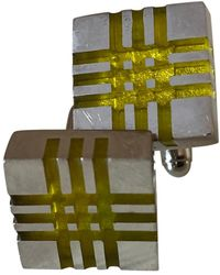 Burberry Gemelos en acero plateado - Multicolor