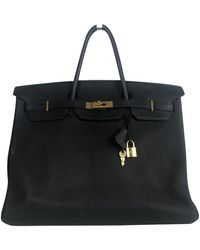 Hermès Birkin 40 Black Leather Handbag