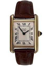 Cartier - Tank Must Gold Silver Gilt Watches - Lyst