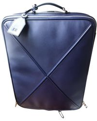 Loewe Leather Travel Bag - Blue