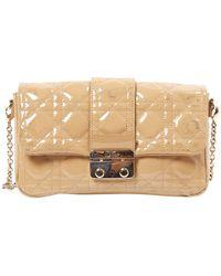 Dior Miss Lackleder Handtaschen - Natur