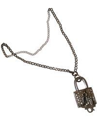 Dior Collar en metal plateado - Multicolor