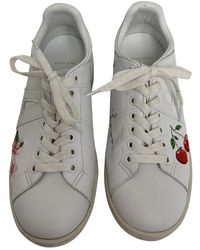 Anine Bing Leather Sneakers - White
