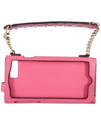 Valentino - Pink Leather Accessories - Lyst