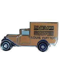 Louis Vuitton Broche en metal multicolor