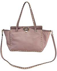 Valentino Rockstud Leder Handtaschen - Pink