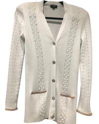 Chanel Maglione. Gilet in cotone bianco