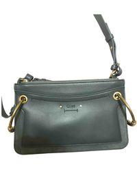 Chloé Roy Leather Crossbody Bag - Blue