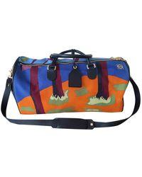 Loewe Cloth Travel Bag - Blue