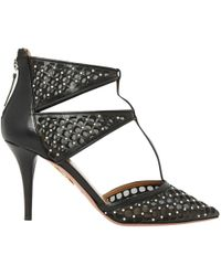 Aquazzura - Black Leather - Lyst