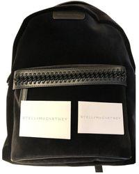 Stella McCartney - Falabella Go Black Velvet Backpacks - Lyst