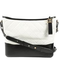 4a43c5bab3abe5 Lyst - Chanel Pre-owned Gabrielle Multicolour Leather Handbags in Black