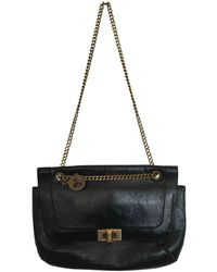 Lanvin Happy Black Patent Leather Handbag