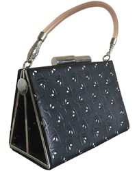 John Galliano Leather Handbag - Black