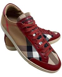 Burberry Cloth Sneakers - Natural