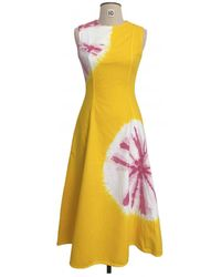 CALVIN KLEIN 205W39NYC Mid-length Dress - Yellow