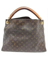 Louis Vuitton Artsy Leder Shopper - Braun