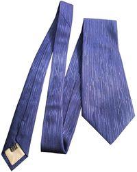 Dior Cravates en Soie Bleu