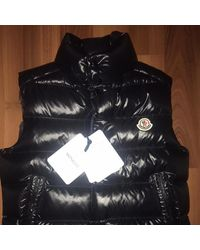 Moncler Cappotto in poliestere nero Sleeveless