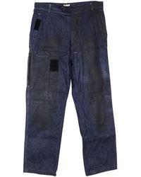Bottega Veneta - Pre-owned Navy Cotton - Elasthane Jeans - Lyst