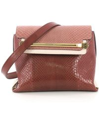 39edd0d8df09a Chloé 'clare' Small Leather Shoulder Bag in Natural - Lyst
