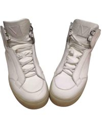 Louis Vuitton - Pre-owned Leather High Trainers - Lyst