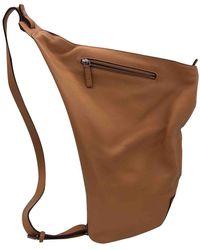Loewe Camel Leather Backpacks - Multicolour